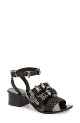 Women's Topshop 'Vintage Western' Sandal Black Leather