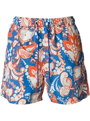 Etro Paisley Swimming Shorts Yellow And Orange