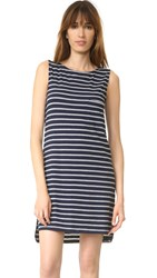 Sundry Sleeveless Shift Dress Navy
