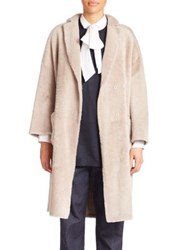 Brunello Cucinelli Reversible Long Shearling Coat Grain