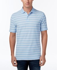 Club Room Men's Striped Polo Only At Macy's Pale Ink Blue