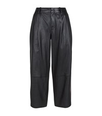 Set Leather Culottes Female Black