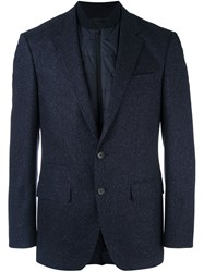 Hugo Boss Quilted Inset Fitted Blazer Blue