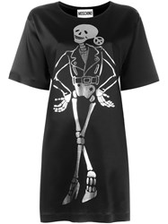 Moschino Biker Skeleton T Shirt Dress Black