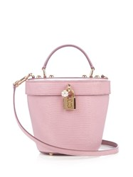 Dolce And Gabbana Lizard Effect Bucket Bag Light Pink