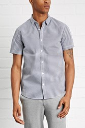 Forever 21 Slim Fit Triangle Print Shirt