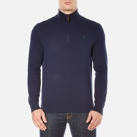 Polo Ralph Lauren Men's Half Zip Knitted Jumper Hunter Navy