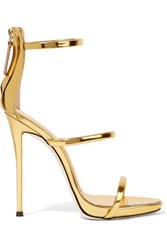Giuseppe Zanotti Harmony Metallic Leather Sandals Gold