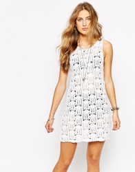 Minkpink Break Free Crochet Tank Dress White