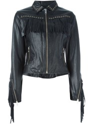 Diesel Fringed Jacket Black