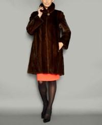 The Fur Vault Wing Collar Mink Coat Demibuff