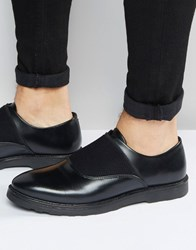 Asos Shoes In Black Leather With Elastic Strap Black