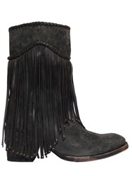 Mexicana 65Mm Leo Printed Suede Fringed Boots