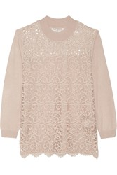 Day Birger Et Mikkelsen Day Flore Lace Paneled Knitted Sweater Nude
