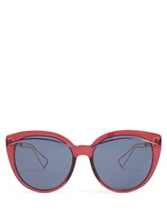 Christian Dior Oversized Cat Eye Acetate Sunglasses Burgundy