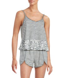 Jane And Bleecker Striped Cami Top Grey