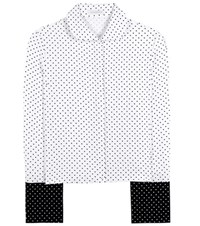 J.W.Anderson French Cuff Polka Dot Crepe Shirt White