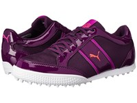 Puma Monolite Cat Mesh Italian Plum Purple Wine Cayenne Women's Golf Shoes