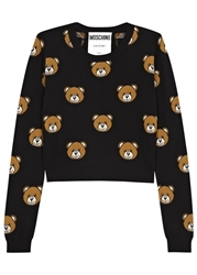 Moschino Black Bear Intarsia Wool Jumper