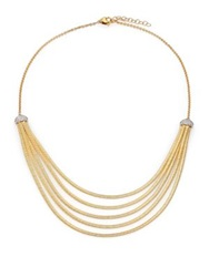 Marco Bicego Cairo Diamond And 18K Yellow Gold Five Row Bib Necklace
