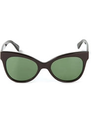 Norma Kamali Square Cat Eye Sunglasses Black