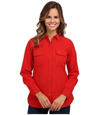Woolrich Heather Chamois Shirt Old Red Heather Women's Long Sleeve Button Up