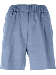 Forte Forte Elasticated Shorts Blue