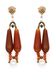 Ziio 'Murano' Glass Bead Earrings Yellow And Orange