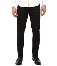 Kenneth Cole Sateen Five Pocket Pants Black Men's Casual Pants