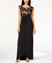Connected Plus Size Soutache Faux Wrap Gown