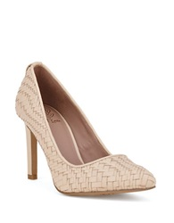Elliott Lucca Catalina Woven Leather Pumps Ivory