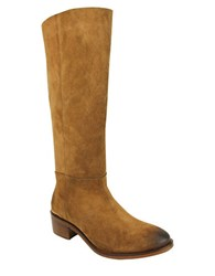 Naughty Monkey Stride Suede Tall Shaft Boots Tan