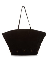 Jerome Dreyfuss Nobert Suede Tote Black