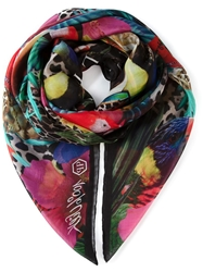 Philipp Plein 'Water Issues' Scarf Multicolour