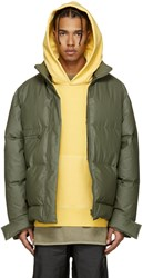 Yeezy Season 3 Green Waxed Cotton Down Puffer