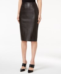 Alfani Prima Faux Leather Pencil Skirt Only At Macy's Espresso Roast Brown