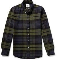 Saturdays Surf Nyc Checked Cotton Shirt Blue