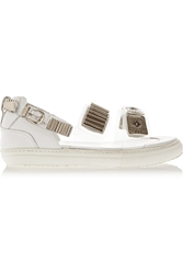 Toga Pulla Embellished Pvc And Leather Sandals