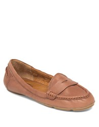Lucky Brand Feverton Leather Loafers Brown