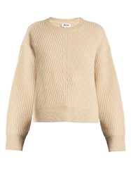 Acne Studios Java Round Neck Wool Sweater Camel
