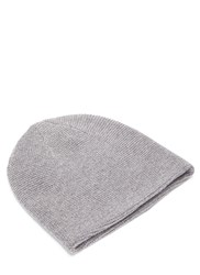 Acne Studios Kape Lambswool Knit Hat Grey