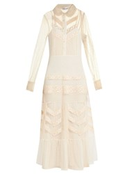 Red Valentino Long Sleeved Lace Dress Ivory