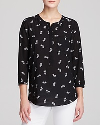 Nydj Bicycle Print Blouse Bicycle Black