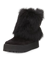 Prada Fold Over Fur And Suede Winter Boot