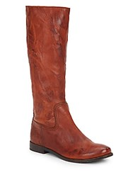 Frye Anna Leather Tall Boots Cognac