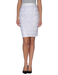 Max And Co. Knee Length Skirts White