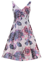 Adrianna Papell Summer Dress Purple Multi Multicoloured