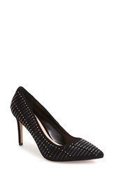 Vince Camuto Women's Narissa Studded Pump Black Leather