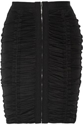 Alexander Wang Ruched Stretch Tulle Pencil Skirt