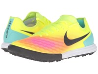 Nike Magistax Finale Ii Tf Volt Total Orange Pink Blast Black Men's Shoes Yellow